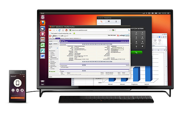Ubuntu Edge dual boot, desktop OS