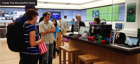 MakerBot Experience inside Microsoft retail store