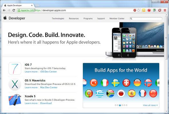 Apple Developer Website