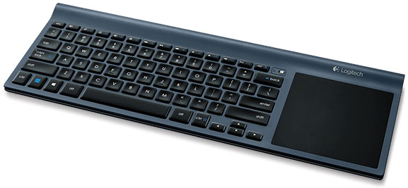 The Logitech Wireless TK820 All-in-One keyboard with touchpad