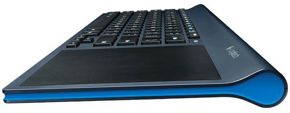 Side view of the TK820 Touchpad Keyboard