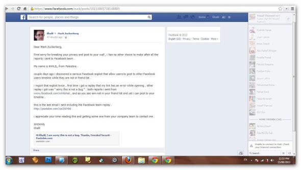 Zuckerberg Facebook hacked