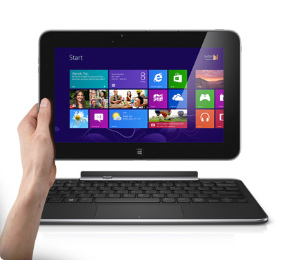 Dell XPS 10 tablet with keyboard and Windows RT