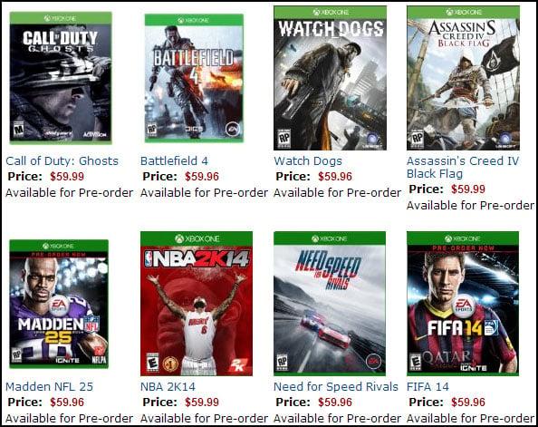 Xbox One Games on Amazon