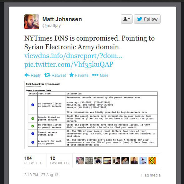 The New York Times and Twitter were hacked by a group calling itself the S.E.A.