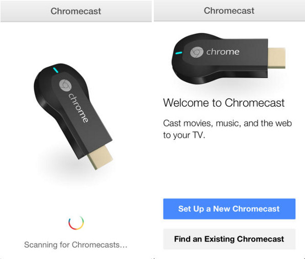 Google Chromecast iOS app