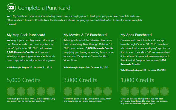 Microsoft Rewards Credits, which replace the Microsoft Points system for Xbox Live