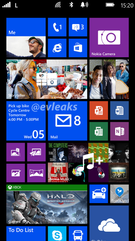 Nokia Lumia 1520 home screen leak
