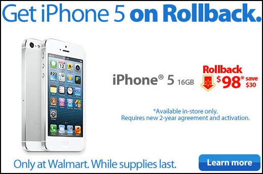 iphone walmart price walmart slashes iphone 5 and prices ahead of apple s 12475