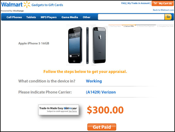 Walmart iPhone 5 Trade-In