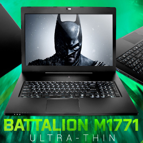 iBuypower Battalion Ultra-thin M1771 17-inch gaming notebook