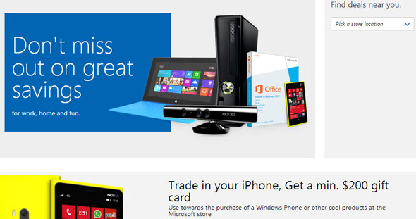 Microsoft Windows Phone, iPhone Trade-Up Deal