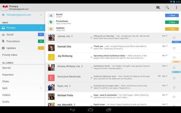 Gmail for Android 4.6
