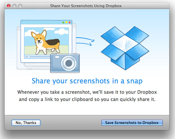 Dropbox Screenshot Share