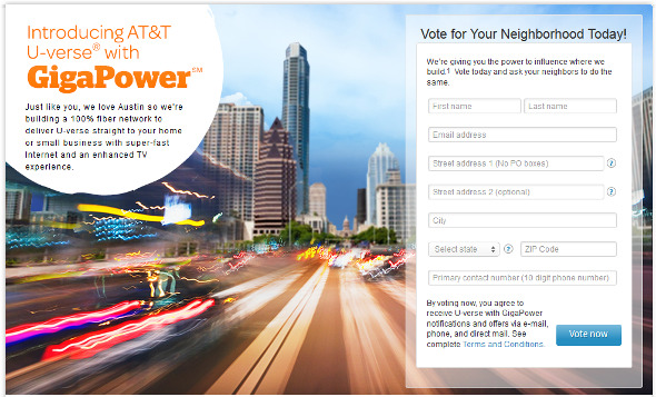 AT&T U-Verse with GigaPower Austin competes with Google Fiber