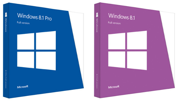 Microsoft Windows 8.1 and Windows 8.1 Pro
