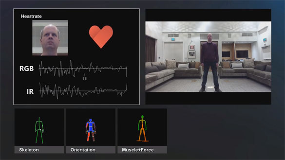 Xbox Kinect biometric data