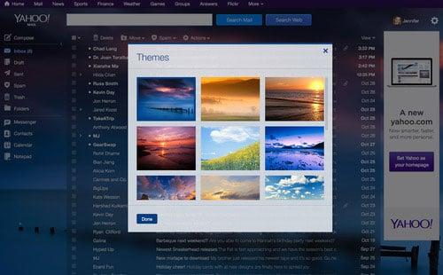 Yahoo Mail Themes