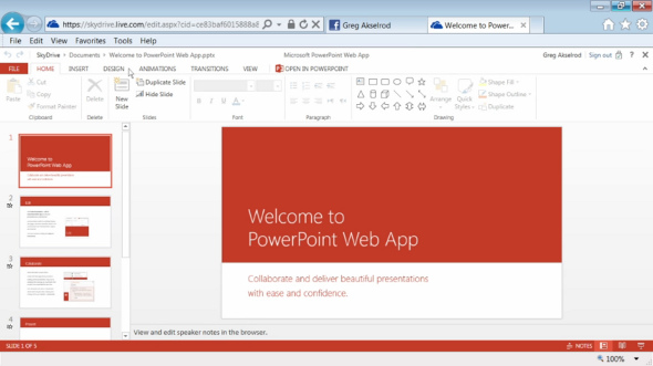 Office 365 PowerPoint Web App