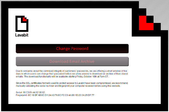 Lavabit secure email service 72-hour data retrieval window