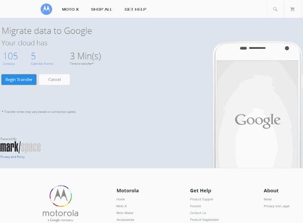 Google iOS Moto X Migrate