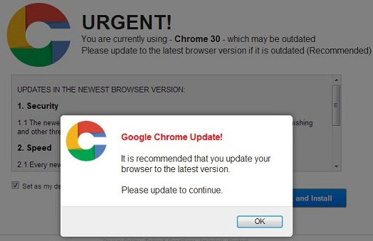 Fake Chrome Update