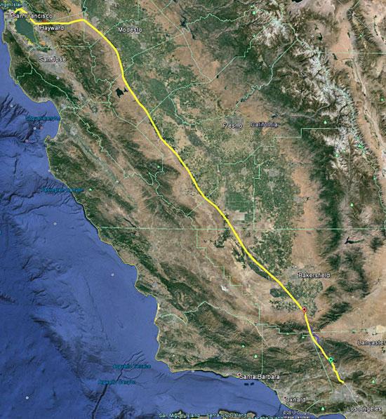 Hyperloop from LA to San Francisco