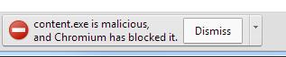 Google Chrome malware block