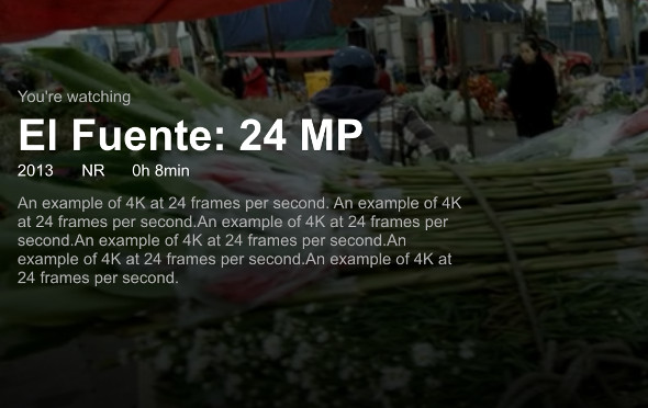 """Netflix """"El Fuente"""" 4K"""