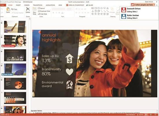 Microsoft PowerPoint Office Web App