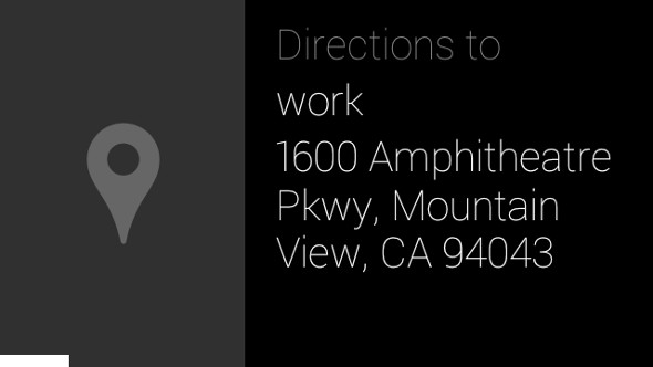 Google Glass directions