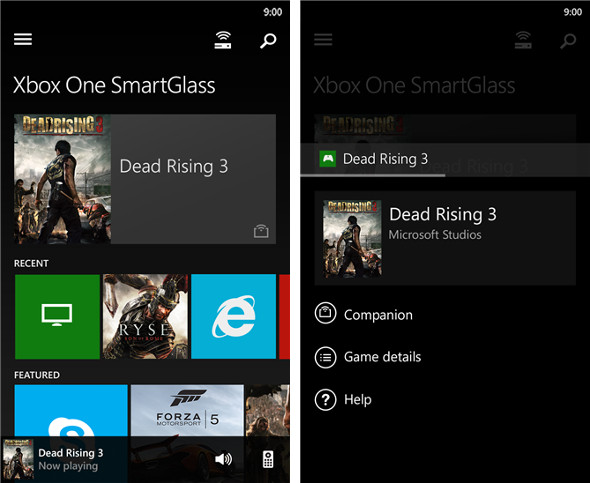 Microsoft Xbox One SmartGlass Windows Phone