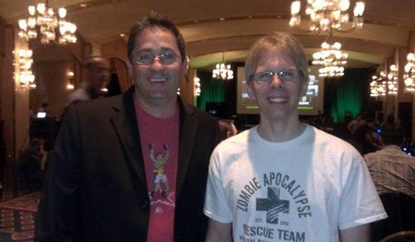 John Carmack with NVIDIA's Brian Burke