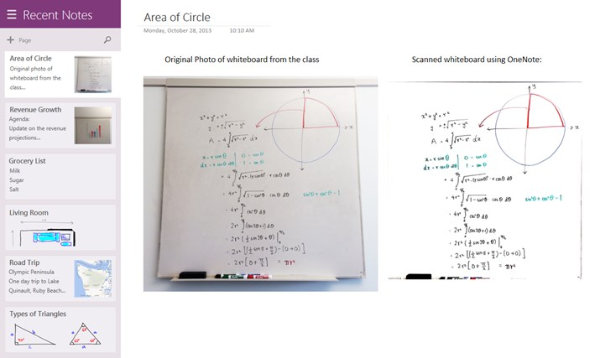 OneNote updates Windows 8.1