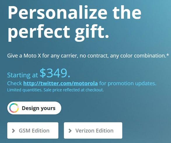 Motorola Moto X Cyber Monday sale