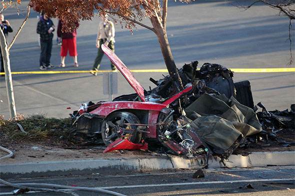 Paul Walker's Wrecked Porsche