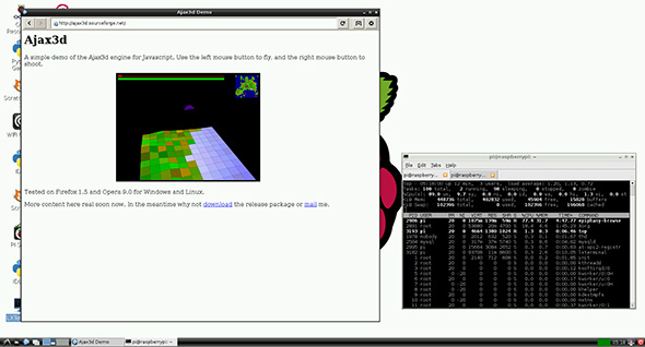 Raspberry Pi web browser