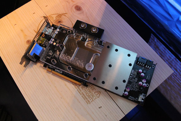 The VisionTek CryoVenom video card, an R9 290 card overclockable to speeds higher than that of an R9 290X