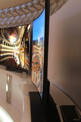 Curved OLED HDTV.