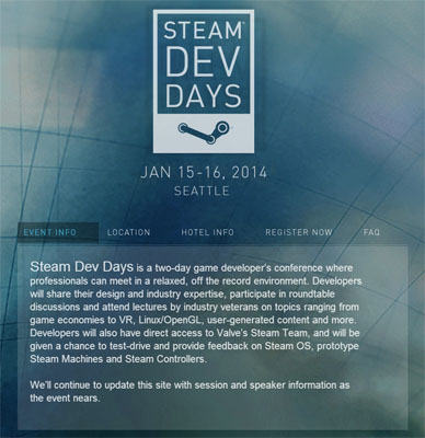 Valve Steam Dev Days