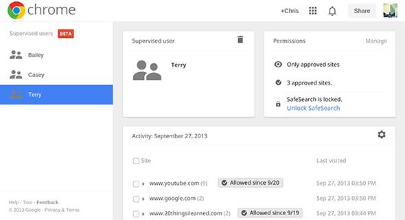 Google Chrome supervised users