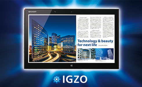 Sharp IGZO 15.6-inch tablet