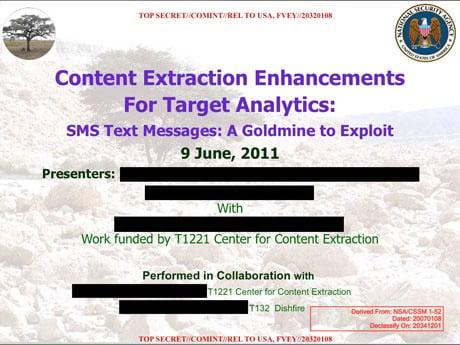 NSA text messages UK GCHQ