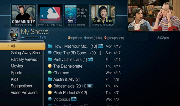 TiVo networked DVR