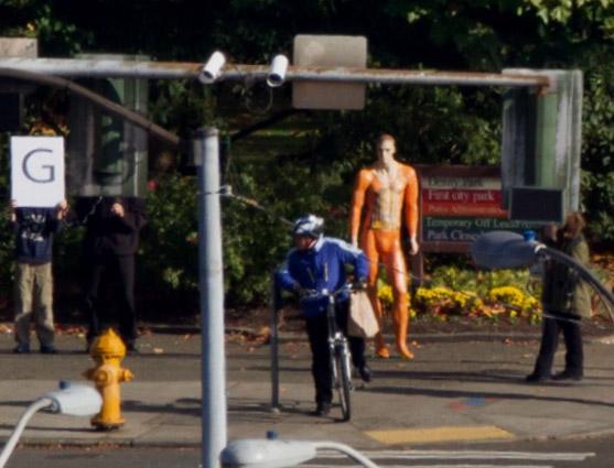 Microsoft gigapixel orange guy