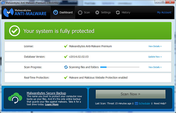 Malwarebytes 2.0 Beta