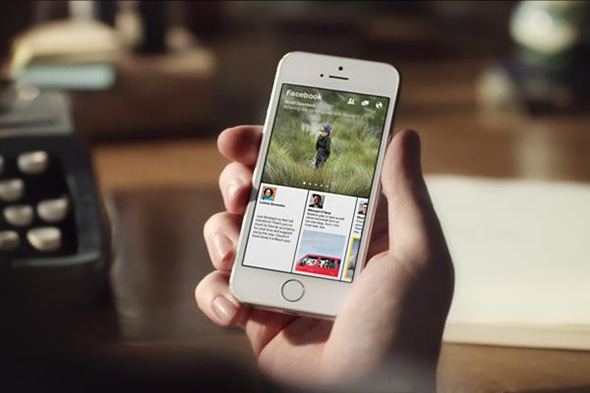 Facebook Paper mobile news
