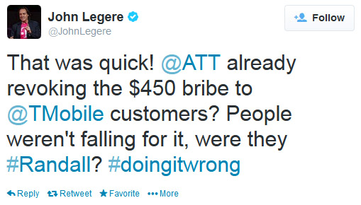 T-Mobile John Legere tweet