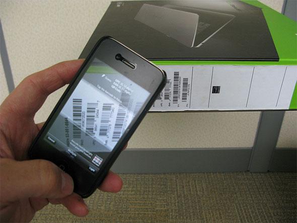 Smartphone Bar Scan