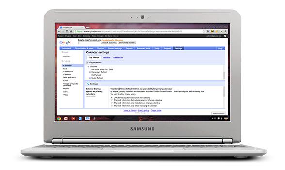 chromebook management console